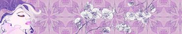 Скинали - Светло-пурпурный фон