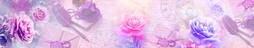Скинали - Яркие розы на ретро фоне