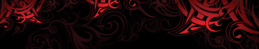 Скинали - Красный рисунок-абстракция на черном фоне