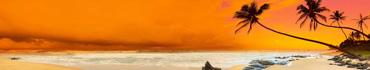 Скинали - Оранжевый закат на тропическом пляже