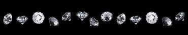 Скинали - Белые бриллианты на черном фоне