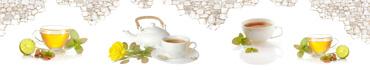 Скинали - Чайная церемония на белом фоне