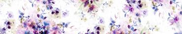 Скинали - Акварельные цветы на белом фоне