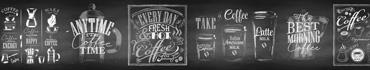 Скинали - Ретро надписи мелом на доске на кофейную тему