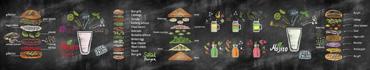 Скинали - Цветные рисунки мелками о еде и напитках