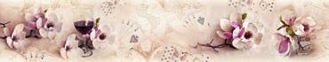 Скинали - Цветы магнолии на состаренном фоне