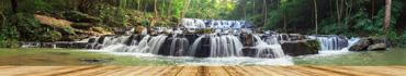 Скинали - Вид на лесную водопад-реку