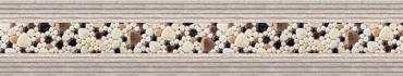 Скинали - Разноцветные глянцевые камушки и рамка из досок