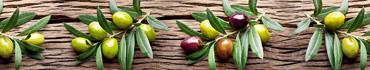 Скинали - Ветки оливок на деревянном столе