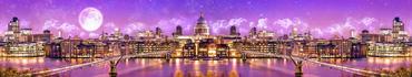 Скинали - Панорама Лондона лунной ночью