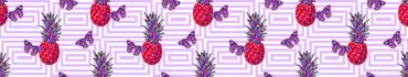 Скинали - Фантазийный узор с бабочками и ананасами