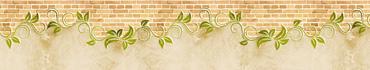 Скинали - Кирпичная стена с растительным узором