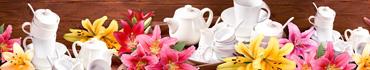 Скинали - Набор чайной посуды в лилиях разного цвета