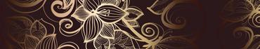 Скинали - Векторные цветы на темном фоне