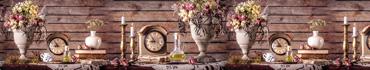 Скинали - Старинные часы с книгами и цветами
