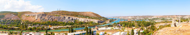 Скинали - Панорамный вид на Севастополь и Черную реку