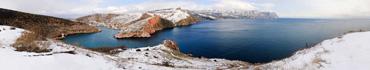 Скинали - Панорама с легким снегом в Балаклаве, Крым