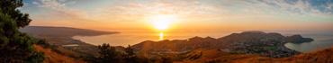 Скинали - Красивое утро в Крыму, панорамный вид на море