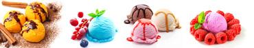 Скинали - Разнообразное мороженое в шариках с ягодами
