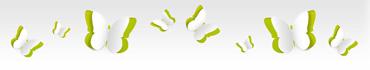 Скинали - Бумажные бабочки на светлом фоне