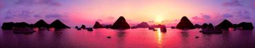 Скинали - Пурпурный закат в островках Вьетнама