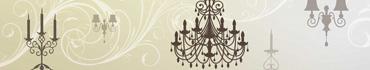 Скинали - Винтажный люстры, канделябры, векторный фон