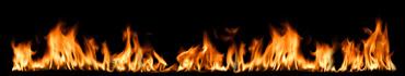 Скинали - Пламя на черном фоне