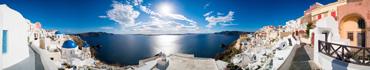 Скинали - Панорама острова Санторини, Греция