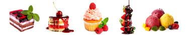 Скинали - Ягодные десерты на белом фоне
