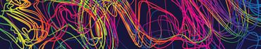Скинали - Разноцветные линии на темно-синем фоне