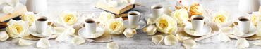 Скинали - Утренний кофе с книгами и лепестками свежих роз