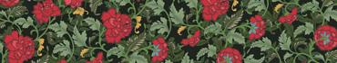 Скинали - Красные векторные цветы в винтажном стиле