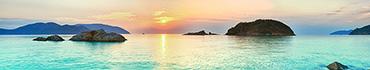 Скинали - Небольшие острова на фоне вечернего неба