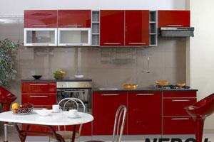 Красные кухни -1