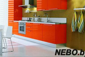 Красные кухни -4