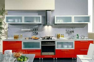 Красные кухни -5