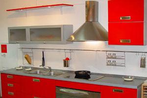 Красные кухни - 6