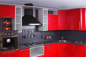 Красные кухни -7