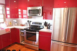 Красные кухни  -8