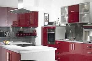 Красные кухни -10