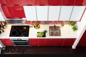 Красные кухни -11