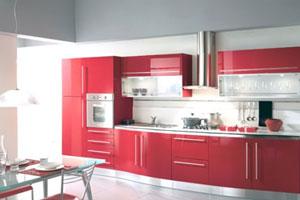Красные кухни -12