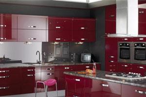 Красные кухни -14