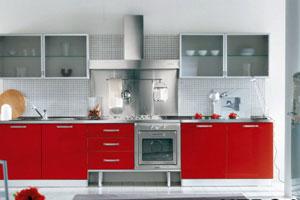 Красные кухни -17