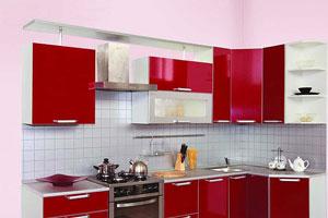 Красные кухни -20
