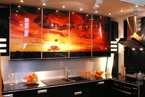 Кухня с фотопечатью - 1