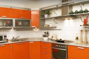 Оранжевые кухни - 4
