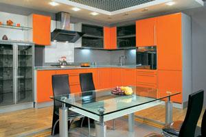 Оранжевые кухни - 5