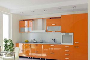 Оранжевые кухни - 7