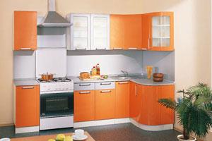Оранжевые кухни - 9
